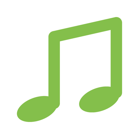 music note isolated icon vector illustration design Illustration