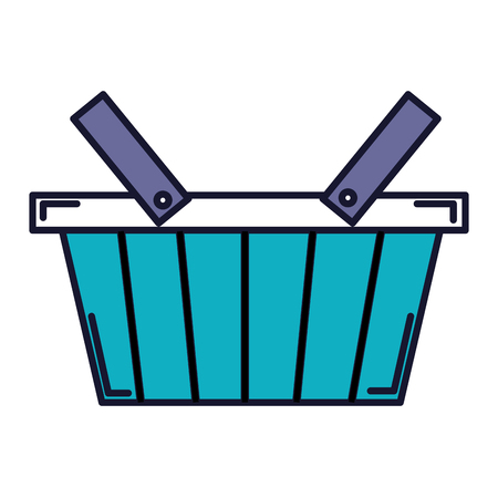 shopping basket isolated icon vector illustration design Illustration
