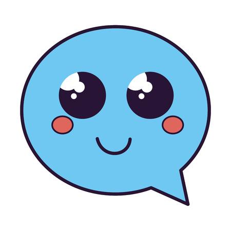 speech bubble message kawaii character vector illustration design