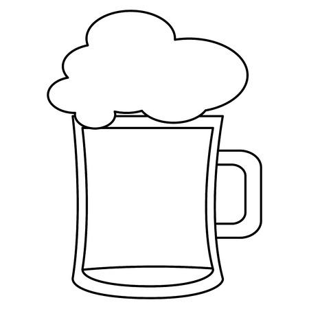 Pot de bière isolé icône illustration vectorielle design Banque d'images - 82057878