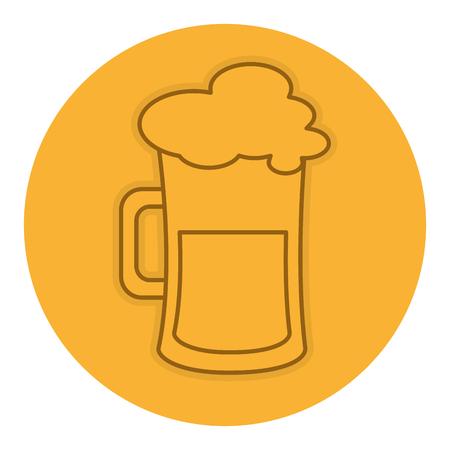 bier pot geïsoleerd pictogram vector illustratie ontwerp Stock Illustratie