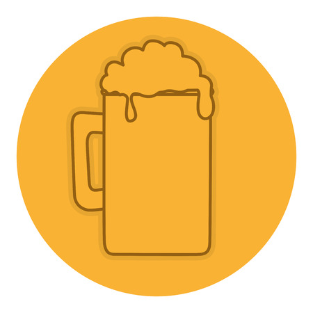 beer jar isolated icon vector illustration design Ilustracja