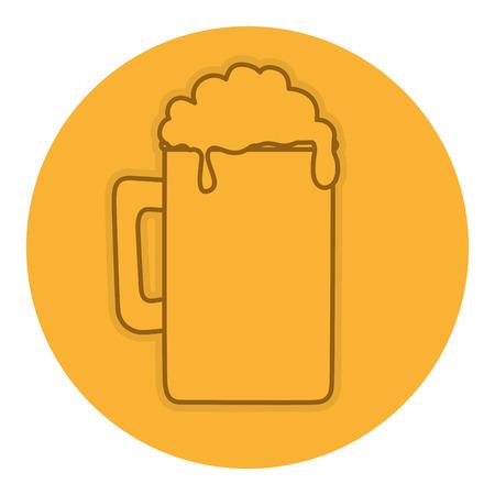 Pot de bière isolé icône illustration vectorielle design Banque d'images - 82057882