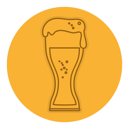 beer cup isolated icon vector illustration design Illustration