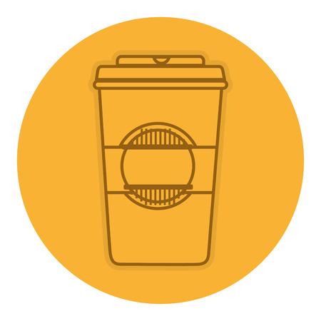 coffee in plastic cup vector illustration design