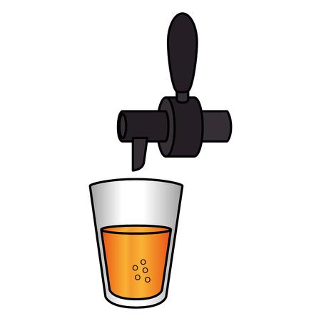 飲料ディスペンサー タップ ガラス ベクトル イラスト デザイン