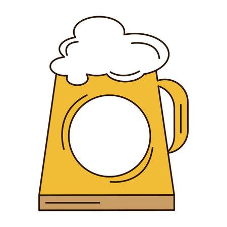 jarra de cerveza: beer jar isolated icon vector illustration design Vectores