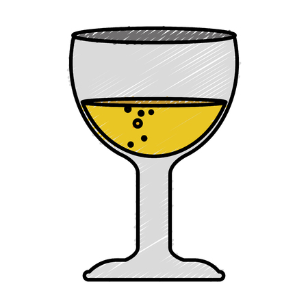 dinner party: wine cup isolated icon vector illustration design Illustration
