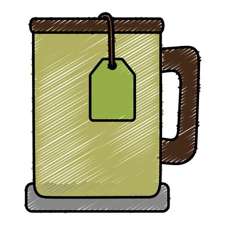tea cup isolated icon vector illustration design Çizim
