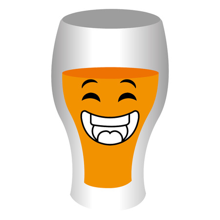 beer cup kawaii character vector illustration design