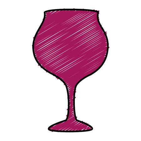 wijn beker geïsoleerd pictogram vector illustratie ontwerp Stock Illustratie