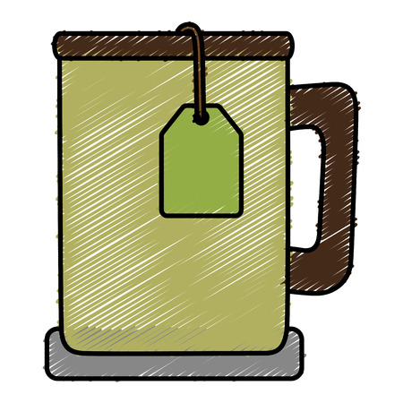 tea cup isolated icon vector illustration design Stock Vector - 82058016