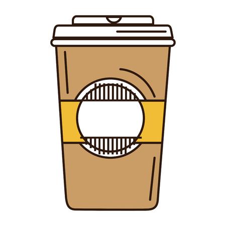 플라스틱 컵 벡터 일러스트 디자인 커피