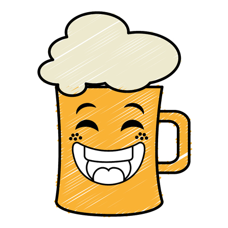 beer jar  character vector illustration design