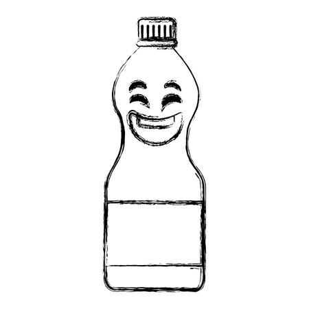 水のボトル可愛い文字ベクトル イラスト デザイン