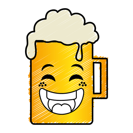 beer jar  character vector illustration design