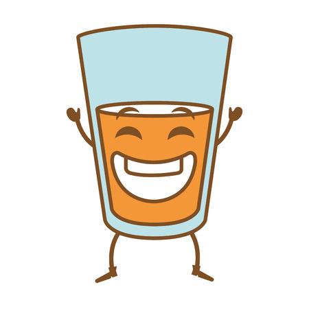 Bierkop kawaii karakter vector illustratie ontwerp