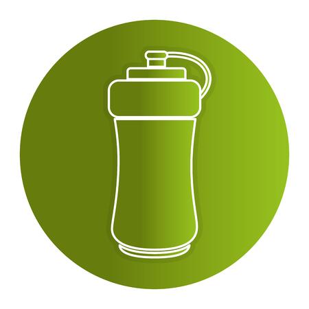 Botella de gimnasio aislado icono ilustración vectorial diseño Foto de archivo - 82040588