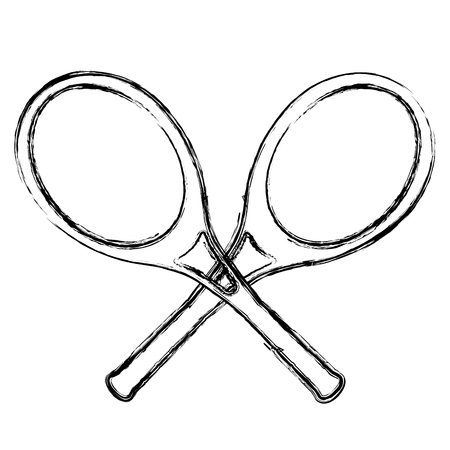 tennis rackets isolated icon vector illustration design