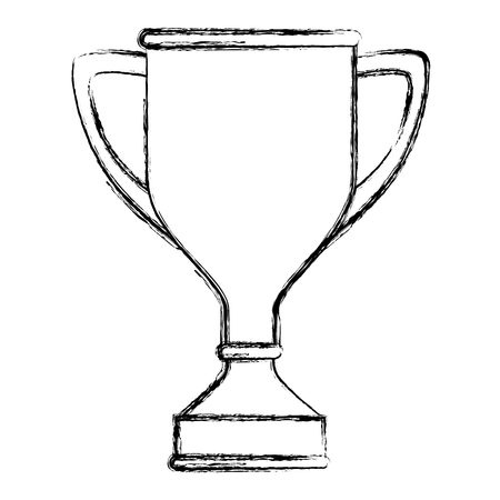 champ: trophy cup award icon vector illustration design