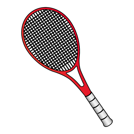 tennis racket isolated icon vector illustration design Illusztráció