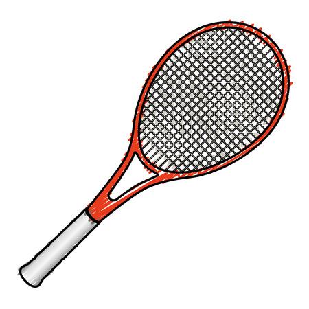 tennis racket isolated icon vector illustration design Illusztráció