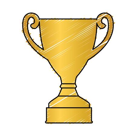 Trophy cup award icon vector illustratie ontwerp