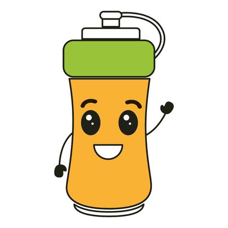 bottle gym character vector illustration design Illustration