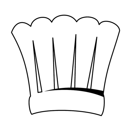 chef hat isolated icon vector illustration design Ilustrace