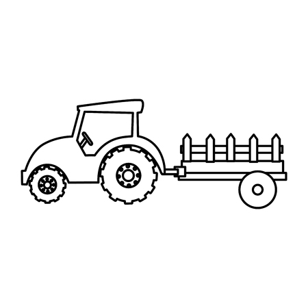 tractor farm isolated icon vector illustration design