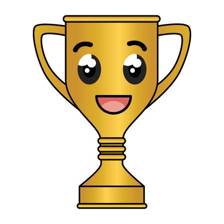 trofee cup award karakter vector illustratie ontwerp