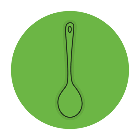 spoon cutlery isolated icon vector illustration design Illustration