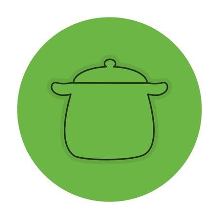 キッチン ポット分離アイコン ベクトル イラスト デザイン