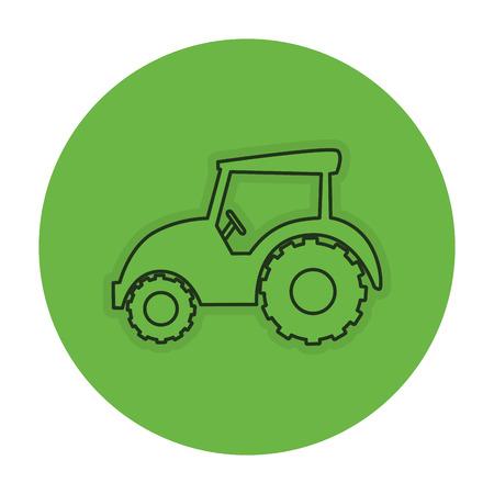 Trekker boerderij geïsoleerd pictogram vector illustratie ontwerp