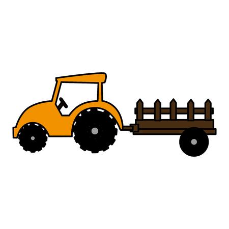 Granja tractor aislado icono de ilustración vectorial de diseño Foto de archivo - 82041525