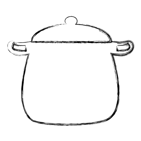 kitchen pot isolated icon vector illustration design Çizim