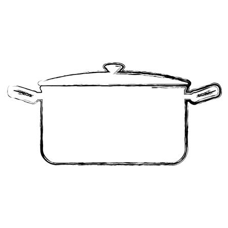 kitchen pot isolated icon vector illustration design Stock Vector - 82041245