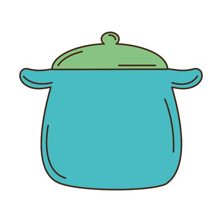 kitchen pot isolated icon vector illustration design Stock Vector - 82041301