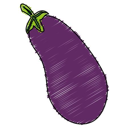 fresh eggplant isolated icon vector illustration design