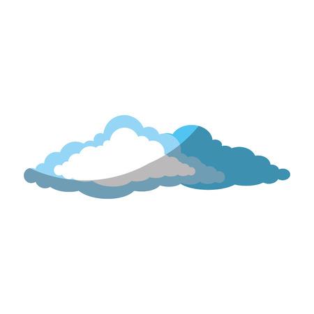 흰색 배경 벡터 일러스트 레이 션 위에 구름 아이콘 스톡 콘텐츠 - 82055790