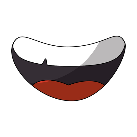 cartoon mouth icon over white background vector illustration