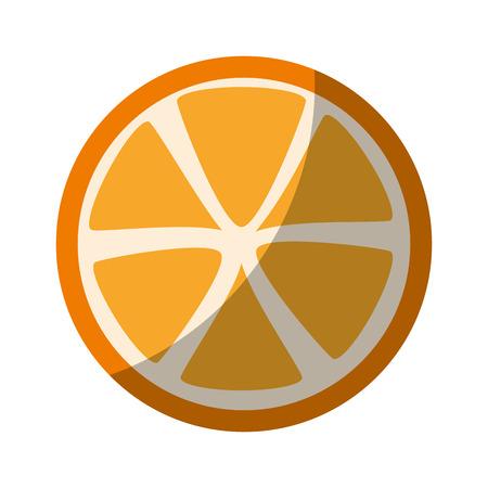 흰색 배경 벡터 일러스트 레이 션 위에 오렌지 과일 아이콘 스톡 콘텐츠 - 82071466