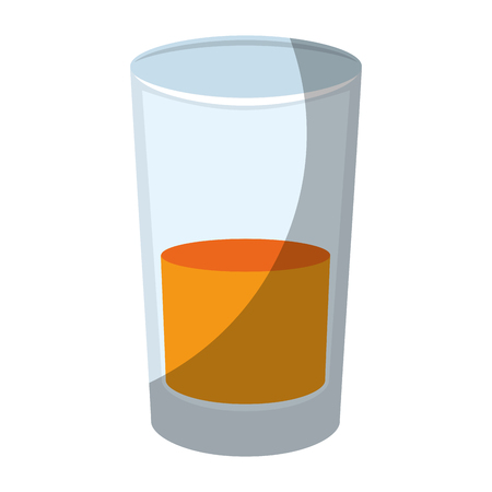 juice glass icon over white background vector illustration