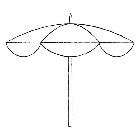 beach parasol icon over white background vector illustration 版權商用圖片 - 82071496
