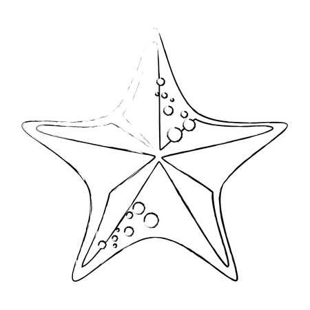 sea star icon over white background vector illustration Stock fotó - 82071499