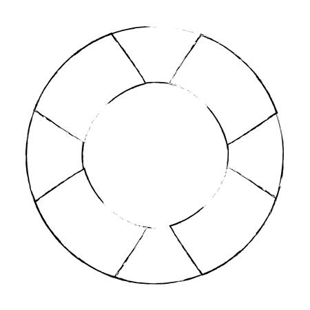 Veiligheidsvlotterpictogram over witte achtergrond vectorillustratie
