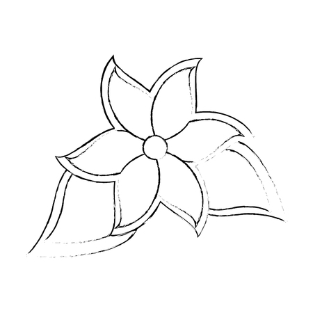 tropical flower icon over white background vector illustration Illusztráció