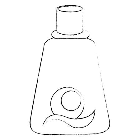 Icono de la botella de sol sobre fondo blanco ilustración vectorial Foto de archivo - 82071507