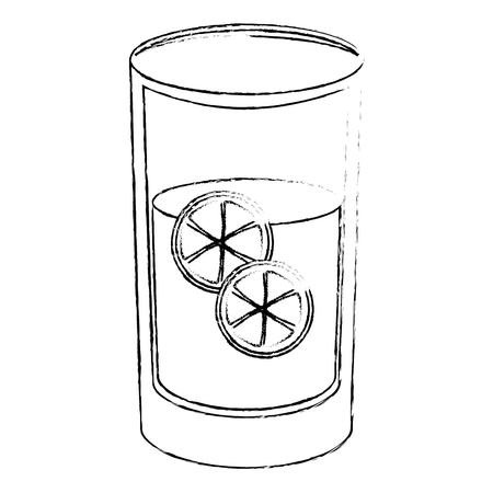 juice glass icon over white background vector illustration Stok Fotoğraf - 82071515