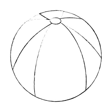 ball icon over white background vector illustration Ilustração